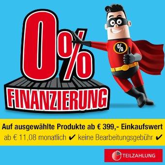 0% Finanzierung auf ausgewählte Produkte*