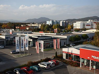 Geschäftsgebäude Majdic Luftaufnahme 2