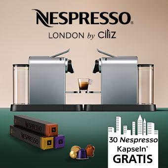 Maschine registrieren und 30 Nespresso Kapseln* als Willkommensgeschenk erhalten