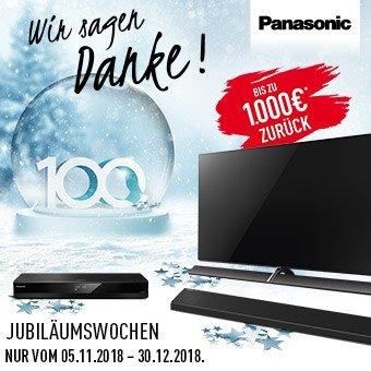 Jetzt mit Panasonic bis zu € 1.000,- Cashback abräumen!
