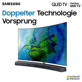 Jetzt QLED TV oder Premium UHD TV in Kombination mit einer ausgewählten Samsung Soundbar kaufen und bis zu 2x 1.000 €* zurückbekommen.