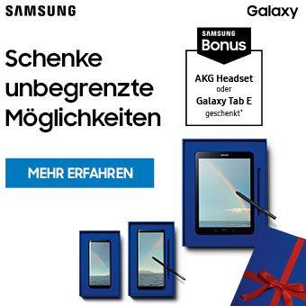 Jetzt Samsung Galaxy S8 | S8+, Galaxy Note8 DUOS oder Galaxy Tab S3 kaufen und Samsung Bonus sichern.*