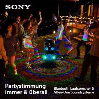 Partystimmung immer & überall - Sony Bluetooth Lautsprecher & All-in-One Soundsysteme