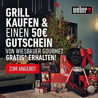 Grill kaufen & einen 50€ Gutschein von Wiesbauer Gourmet gratis* erhalten!