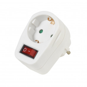 VIVANCO Schuko-Adapter m. Schalter 1fach