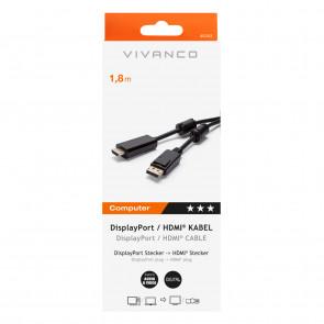 VIVANCO Displayport - HDMI 1,8 m