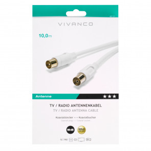 VIVANCO Antennenkabel weiß 10m