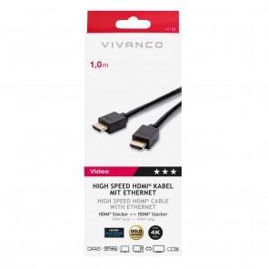 VIVANCO High Speed HDMI-Ethernet 1m