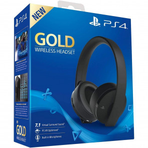 Sony Gold Wireless Headset schwarz PS4