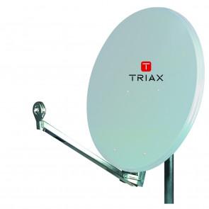 Triax AE 75 QS lichtgrau inkl. Quad LNB